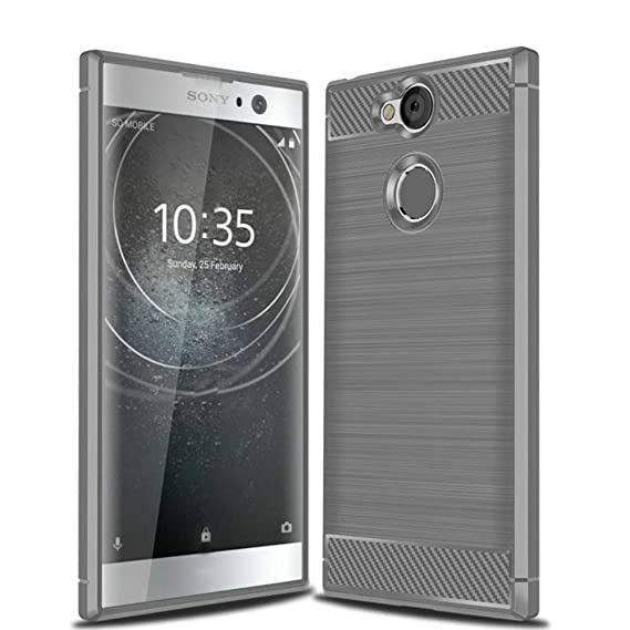 buy online 99bc6 7caaf Sony Xperia XA2 Phone Case,Bettop Anti-Fingerprint Shockproof Carbon Fiber  Design Flexible Soft TPU Brushed Texture Protective Case for Sony Xperia ...