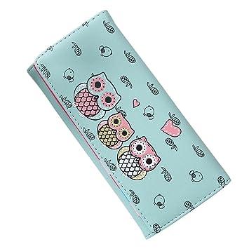 Malloom® nuevo moda El bloqueo de color dama mujeres chica largo monedero embrague billetera Bolsa postal Titular de la tarjeta (verde (green)): Amazon.es: ...