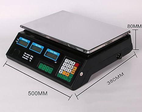 MLL Versión en inglés de los Precios electrónicos llamados básculas de Frutas balanzas electrónicas Plataforma de
