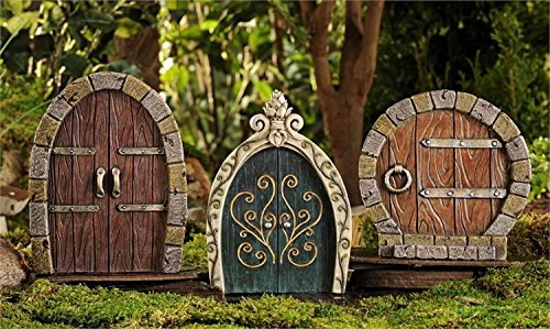 Tree Doors- Gnome Fairy Hobbit doors for outdoor decorating! So cute! Amazon.co.uk Garden \u0026 Outdoors & Tree Doors- Gnome Fairy Hobbit doors for outdoor decorating! So ...