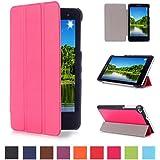Huawei MediaPad T1 7.0 Case,Hot Rosa Ultra Slim PU Cuero Funda de Piel para Huawei MediaPad T1 7.0 Tablet de 7'' Pulgadas Smart Case Cover con Stand Función