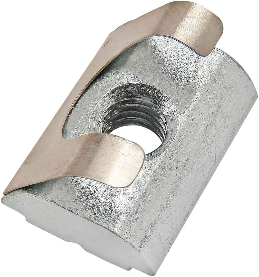 13091 40 Series M5 Short Self Aligning Roll in T-Nut with Spring Leaf 30 25 Pack 80//20 Inc 15
