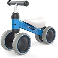Bammax Vélo Draisienne, Bébé Balance Bike Vélo sans Pédales Enfant Pour Bébé et Enfant utilisé à l'intérieur et à l'extérieur, Bleu