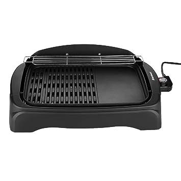 Excelvan KYS-863 Parrilla Barbacoa Electrica Portatil con Plancha BBQ (1950W, Antiadherente, Cocción 42.5 x 30cm, Extraíble, Grill Placa Interior para ...