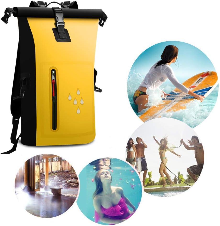 25 L con IPX8 Pesca esqu/í con Cierre Enrollable Resistente al Agua Resistente al Agua Playa Mochila Impermeable para secar Camping Kayak SCHITEC nataci/ón para navegar
