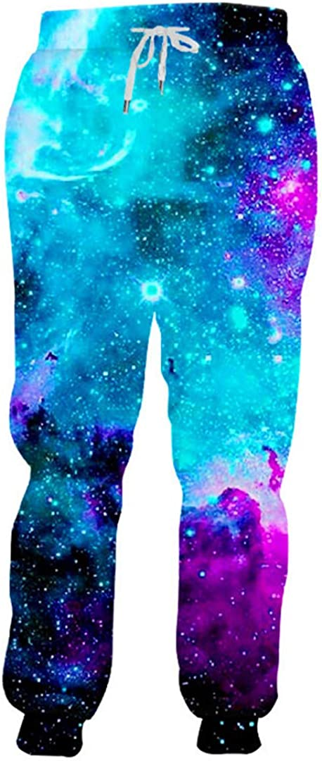 Galaxy Space Print 3D Joggers Pants Men Women Casual Sport Track Baggy Sweatpants Lovers Runner Long Trousers