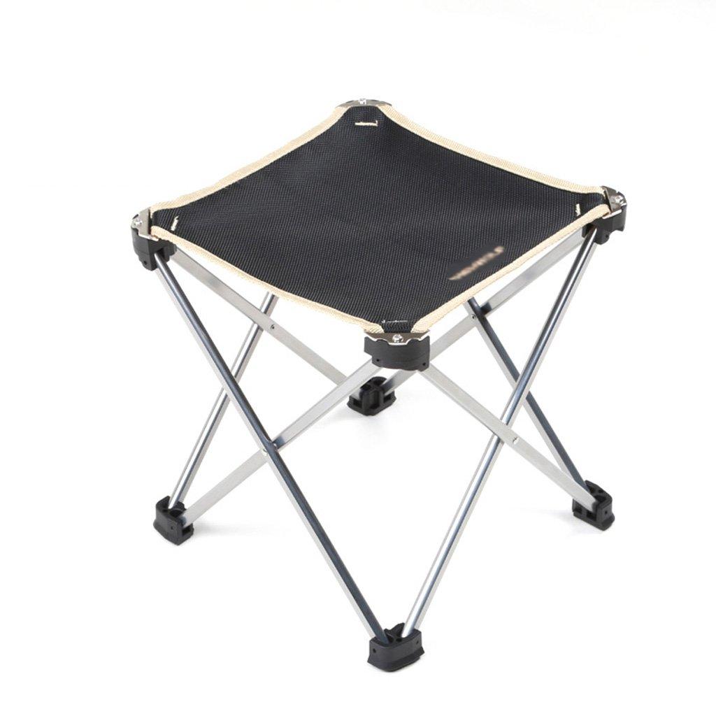 Im Freien faltender Lager-Stuhl-ultra leichter beweglicher Schemel-Aluminiumfischer-Klappstuhl, der kampierende Festivals Garten-Wohnwagen-Ausflüge fischt, die Strand BBQs-Klappstuhl, schwärzen