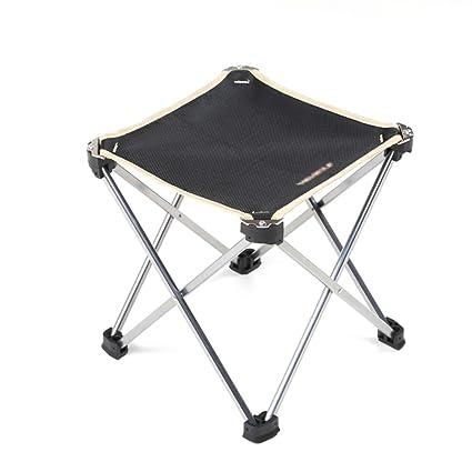 Silla de camping plegable al aire libre Taburete portátil ultra ligero Taburete de pesca plegable de