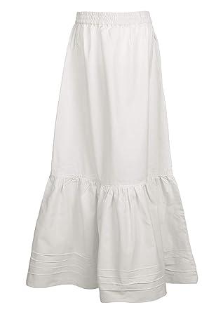 701ce2c5a371 Mittelalter Rock/Unterrock lang aus Baumwolle in weiß/Natur - Mittelalter  Kleidung LARP Wikinger Mittelalter Kleid