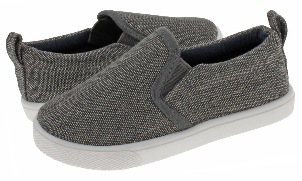 Capelli New York Toddler Boys Textured Canvas Slip On Shoe FTB-1438