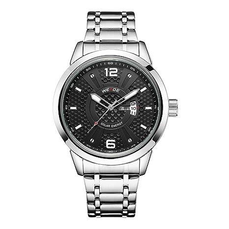 SPORTWATCHES Relojes Hermosos, Reloj de Cuarzo de los Hombres Reloj Puntero de Acero Negocios Informal