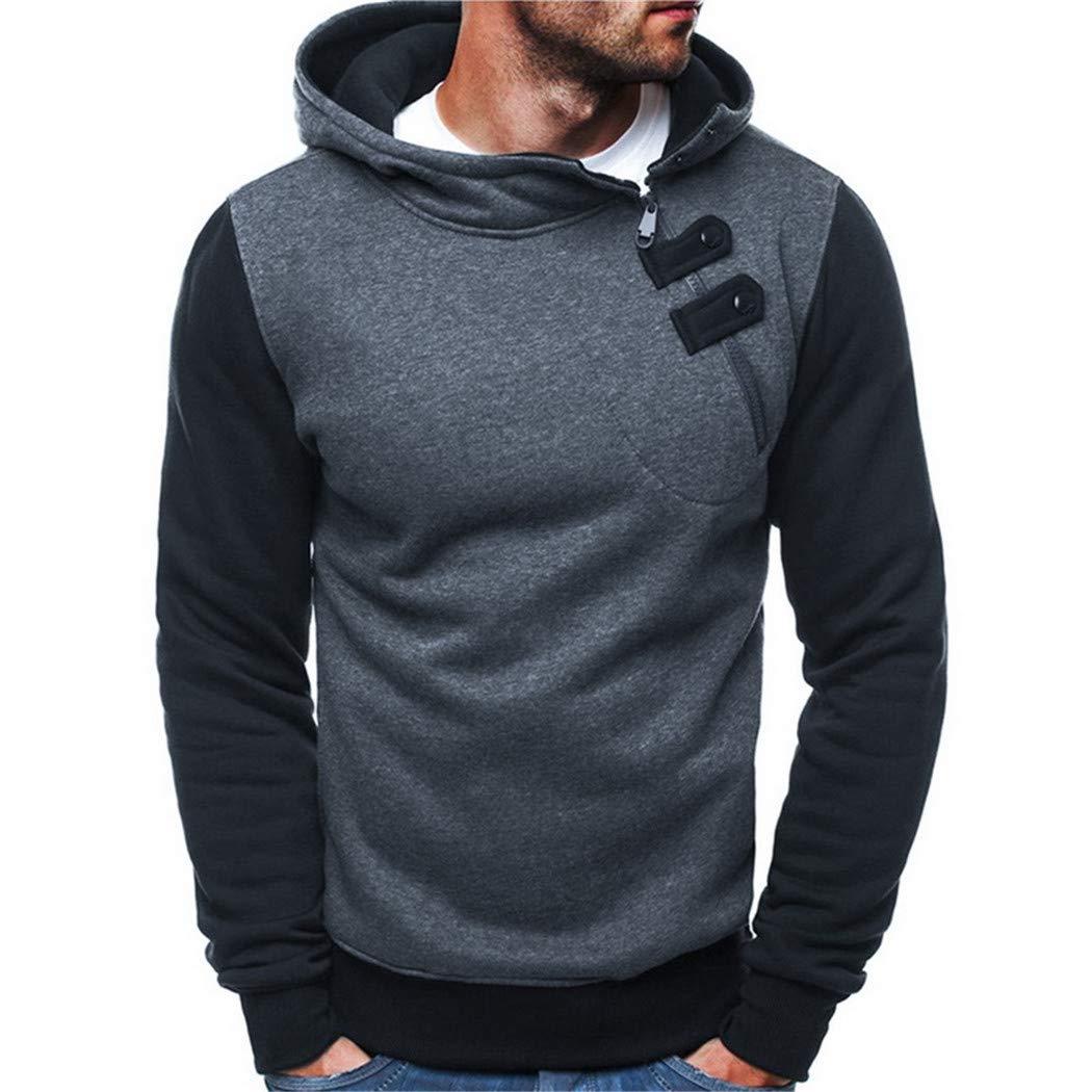 Guige Sweatshirt Men Hoodies Solid Pullover Men Casual Tracksuit Masculino