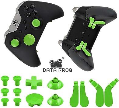 LXWM Para el Controlador inalámbrico Xbox One Elite 14 Piezas de reemplazo de Metal, Palanca de Mando, Palanca de Mando, Paddle Cubre DPAD para Xbox One Elite Gamepad,Green: Amazon.es: Deportes y aire