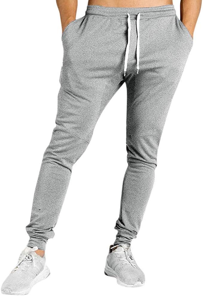 Pantalones Hombre Cintura Ajustable por Cordón y Bolsillos ...