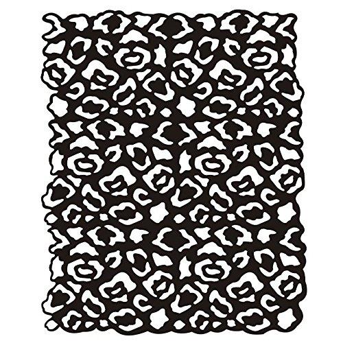 Leopard Pattern Silhouette Laser Stencil 18.5x 23cm | Creative Wall Decoration, Textiles, Paper, Scrapbooking Ideen mit Herz
