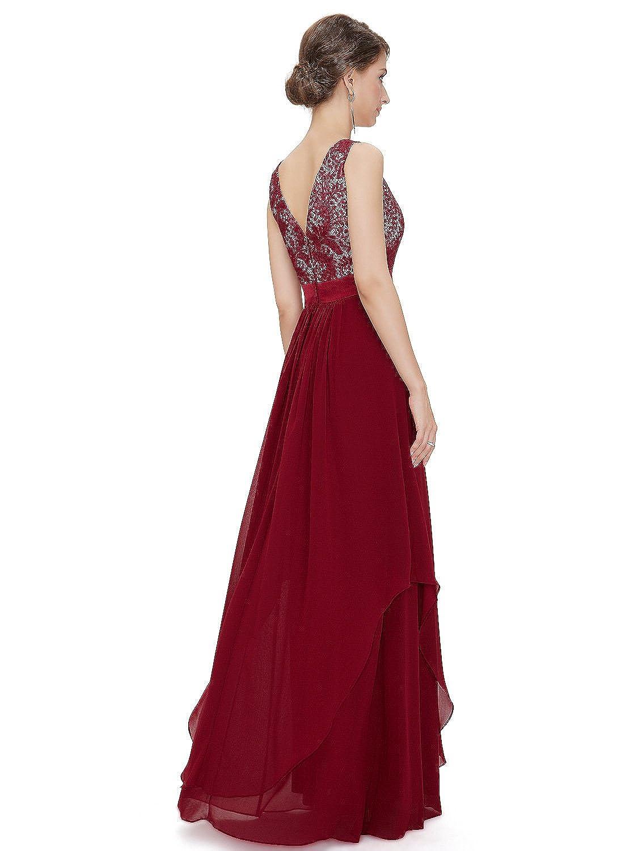 Elegant Sleeveless Lace Evening Party Dress at Amazon Womens Clothing store: