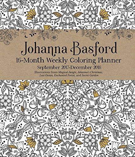 Johanna Basford 2017 2018 16 Month Calendar