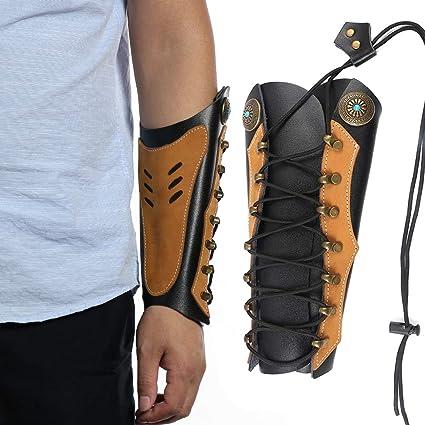 piel de ante de calidad Protector de brazo para tiro con arco suave