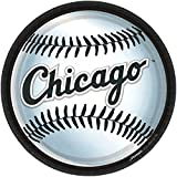 "Amscan Chicago White Sox 9"" Round Dinner Plates"