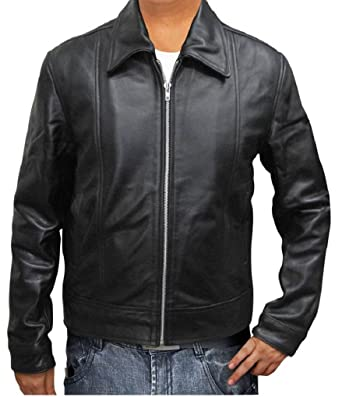 DashX Hank Moody Californication Black Leather Jacket at ...