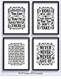 Motivational Inspirational Quotes Art Prints 4