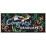 "Chalkboard Graduation Wall Banner & Photo Prop, 60"" x 27"""