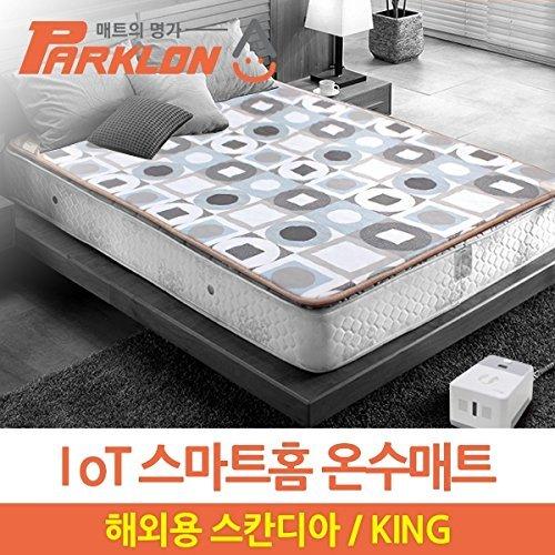 Parklon 電気温水マットレスパッド_Sacandia Design _キングサイズ_110v B076KNH1QW