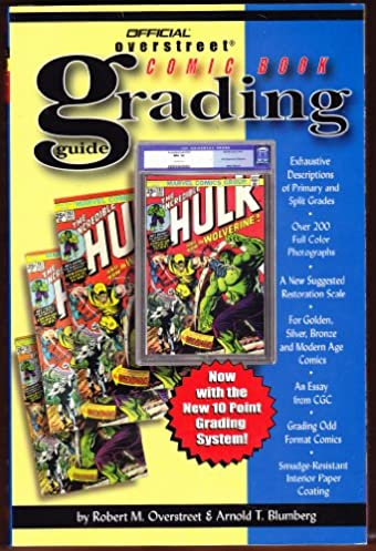 the official overstreet comic book grading guide 2nd edition rh amazon com overstreet comic book grading scale Overstreet Grading Standards PDF