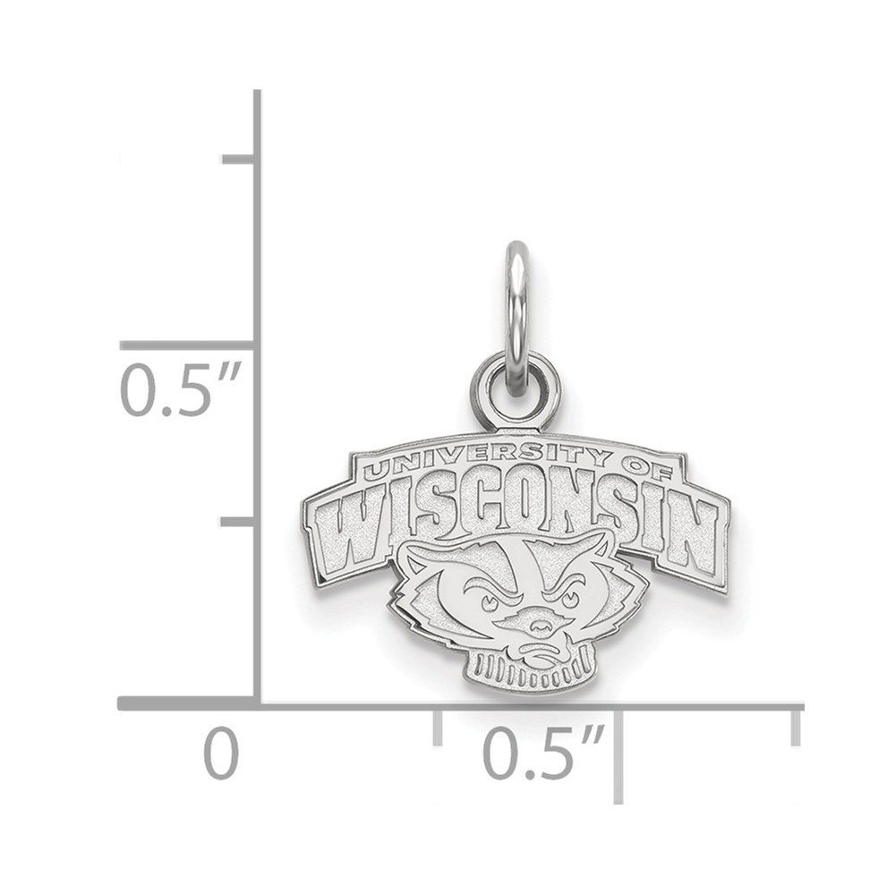 Jewel Tie 925 Sterling Silver University of Wisconsin Extra Small Pendant