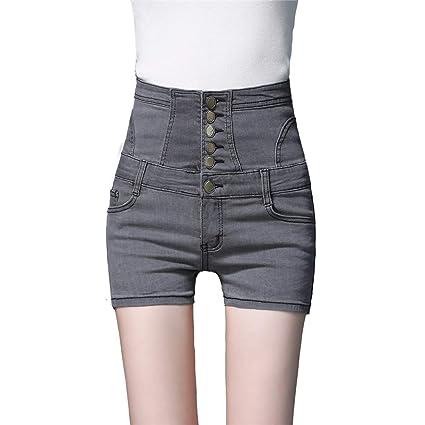 Shorts vaqueros elásticos de mujer Pantalones cortos de ...