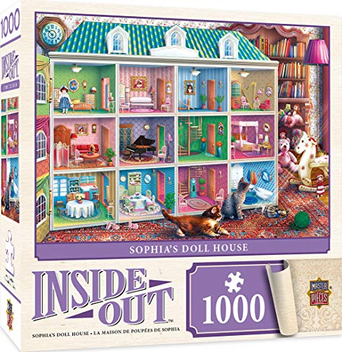 MasterPieces Inside Out Jigsaw Puzzle, Sophia's Dollhouse, Featuring Art by Eduard, 1000 Pieces