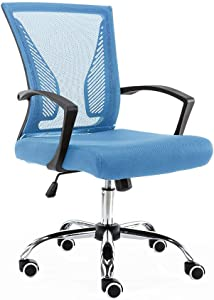 Modern Home Zuna Mid - Back Office Chair, Black/Blue