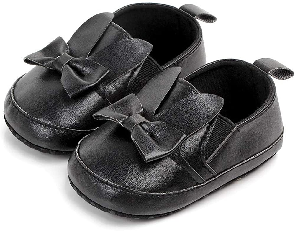Voberry@ Leather Baby Moccasins Soft Soled Dual Strap Slip-On Toddler Prewalker Shoes Sneakers