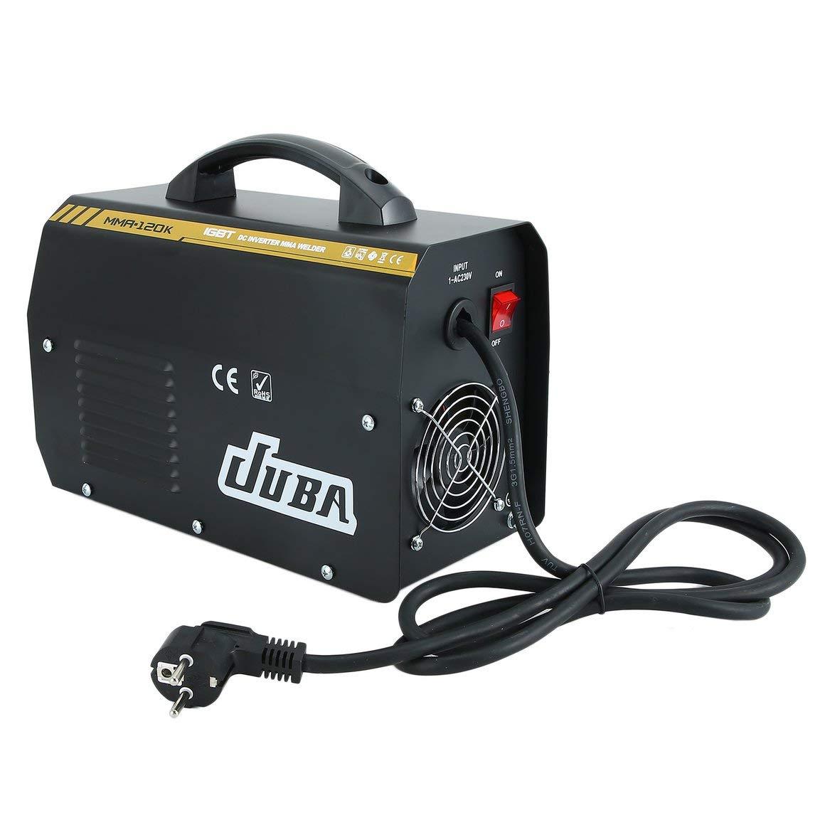 Funnyrunstore JUBA MMA-120 IGBT Electrodos Máquina soldadora inversora Máquina soldadora eléctrica profesional Equipo de soldadura MMA Enchufe: Amazon.es: ...