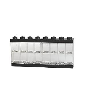 LEGO Minifigure Display Case 16 Black, Large