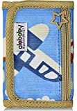 Alababy Boys Camo Canvas Trifold Wallet Bluesky Blue with zipper