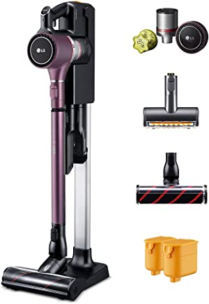 LG Cordzero A9, Two Batteries, for Hard-Floor, Carpet, Couch, Mattress, Car, Extra Filter kit, (A908VMR) Cordless Stick Vacuum, Vintage Wine