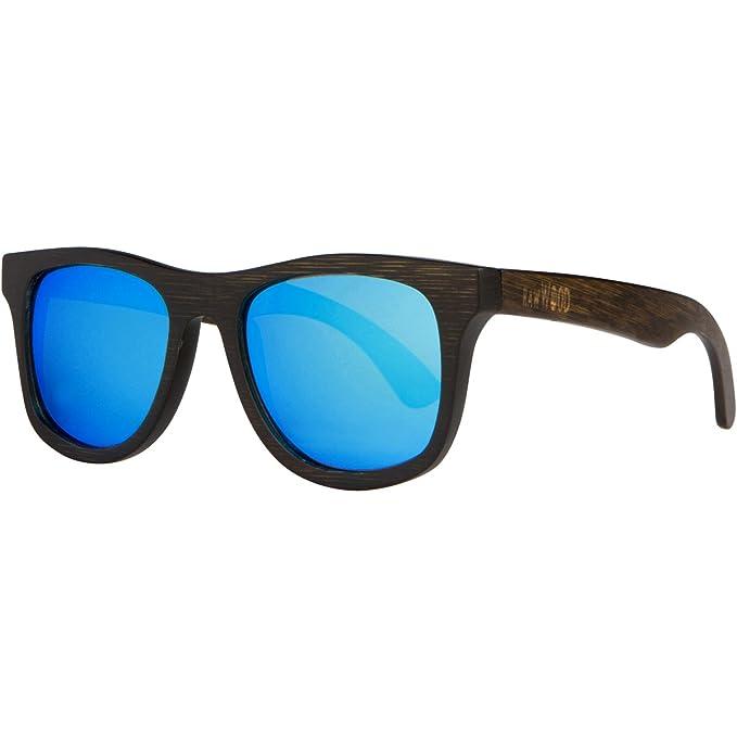 RawWood Gafas De Sol Madera Polarizadas De Bambú - Lakers Marrón/Gris