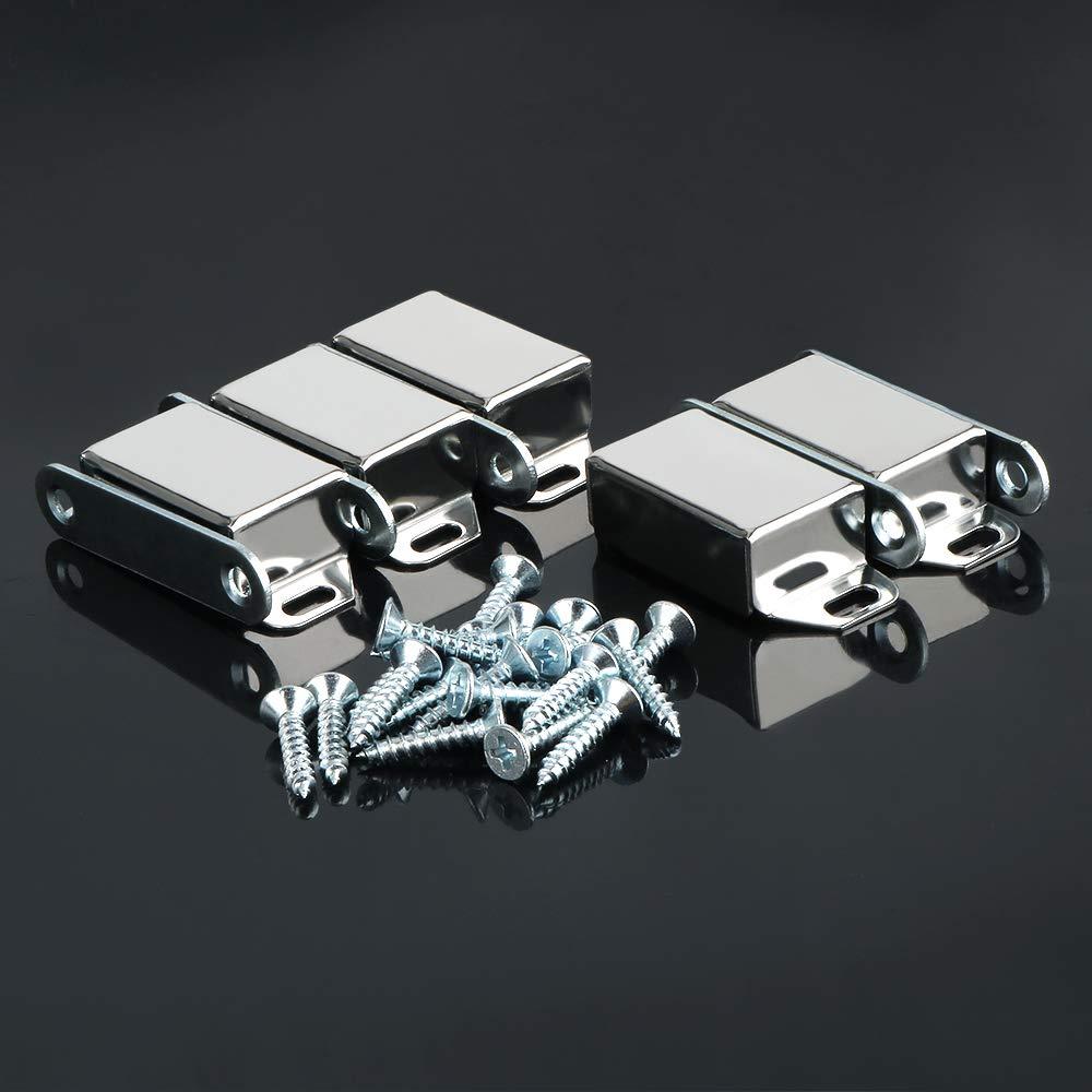 f/ür Schr/änke und T/üren Edelstahl verchromt Sayayo ECA6000-5P Magnetverschluss 5 St/ück Schraubbefestigung