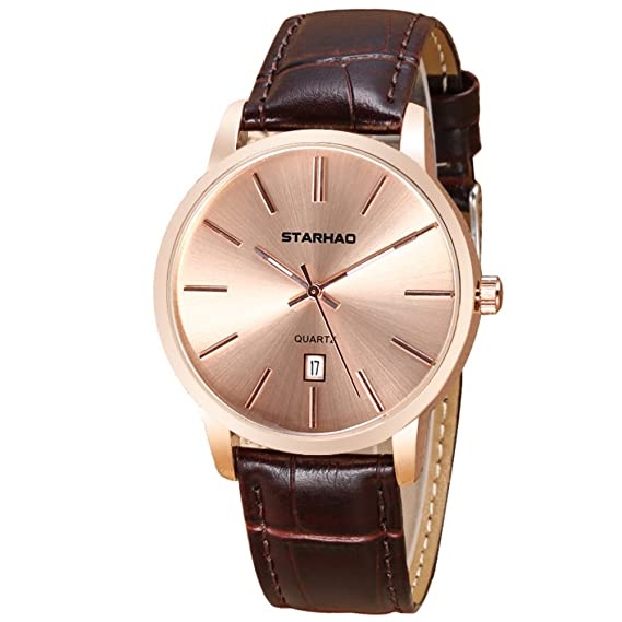 Reloj impermeable para hombres, reloj vintage quartz, amantes reloj-C