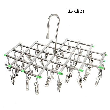 Tendedero 35 Pinzas Metálicas para Ropa Interior o Ropa de Niño de la pequeña Calcetines Acero