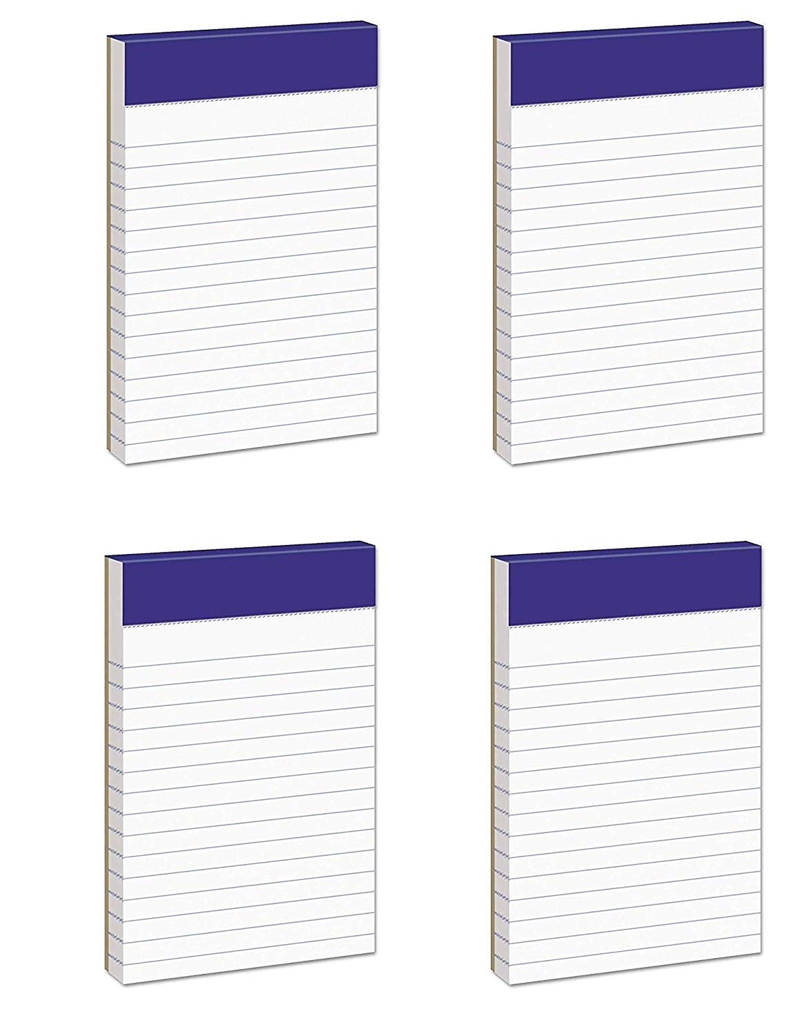 Ampad 20-208 Evidence 3'' x 5'' Narrow Perforated Writing Pads - White (12 Pads of 50 Sheets Each) (Pack of 4)