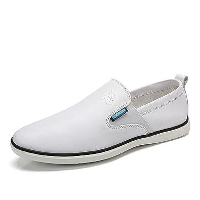 Men's Slip-on Leather Loafer Leisure Casual Sneaker Shoe