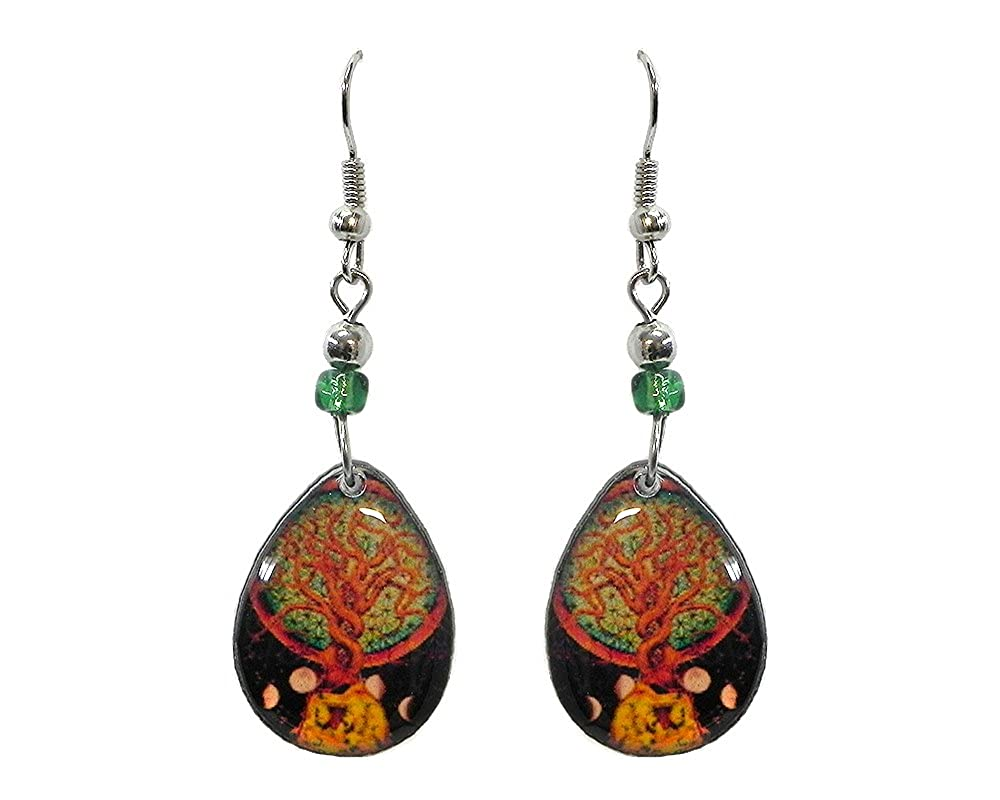New Age Teardrop Dangle Earrings