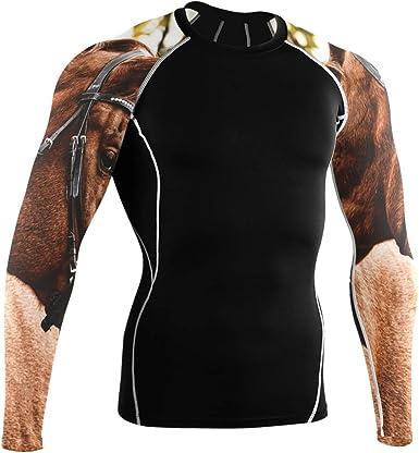 DEZIRO Bashful Horse Camisa de manga larga para ciclismo ...