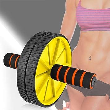 Ociodual Rueda Abdominal AB Wheel Abdominales Roller Gimnasio en Casa con Alfombra