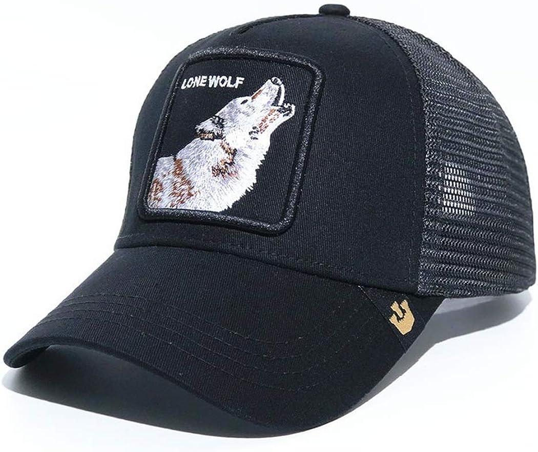 Peaked cap Baseball cap Cartoon Animal Embroidery Net Hat