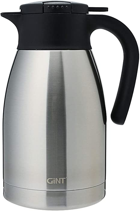 1.5L Stainless Steel Insulated Tea//Coffee Pot Carafe Thermal Pitcher Silver