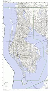 image about Printable Pinellas County Zip Code Map titled : St Petersburg/Pinellas County FL Fold Map