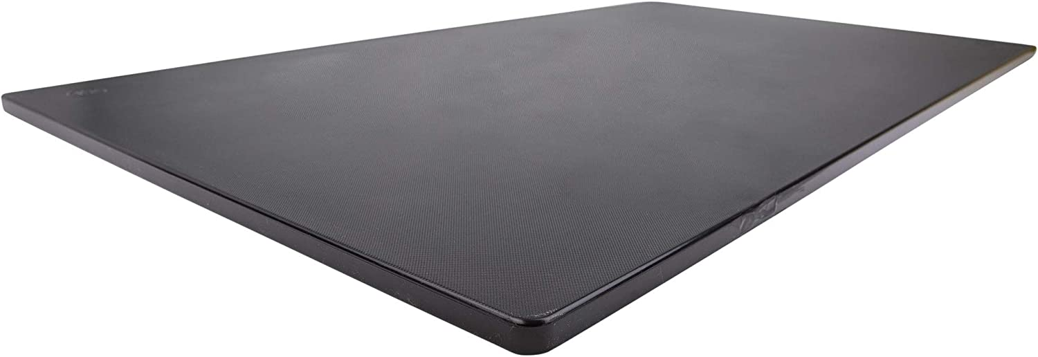 Commercial Plastic Cutting Board for Kitchens, Extra Large 30 x 18 x 0.5 Inch, NSF, Approved, Black